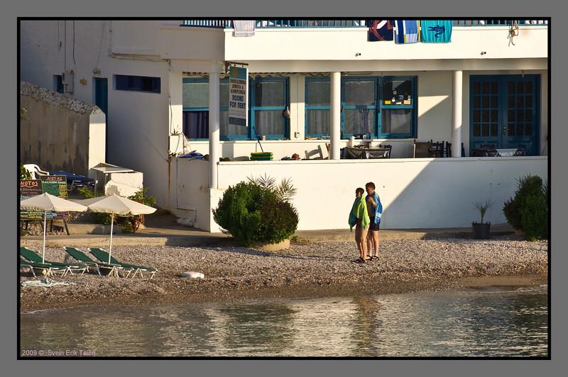 Returning from the morning swim - II