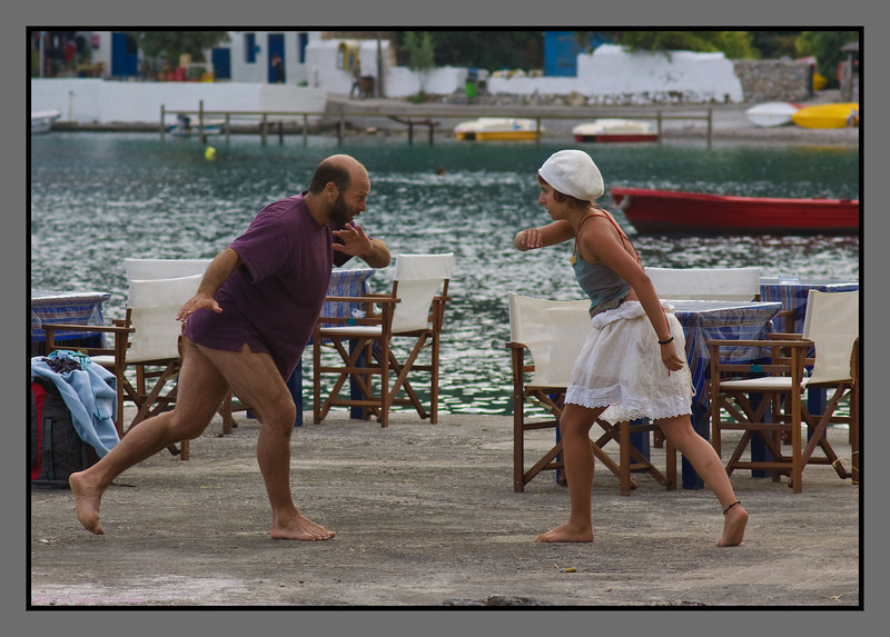 Dance instruction at the dock - II