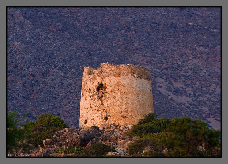 The old water tower above Loutro