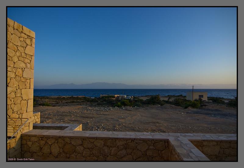 Morning sun at Fetife Studios - overlooking Crete