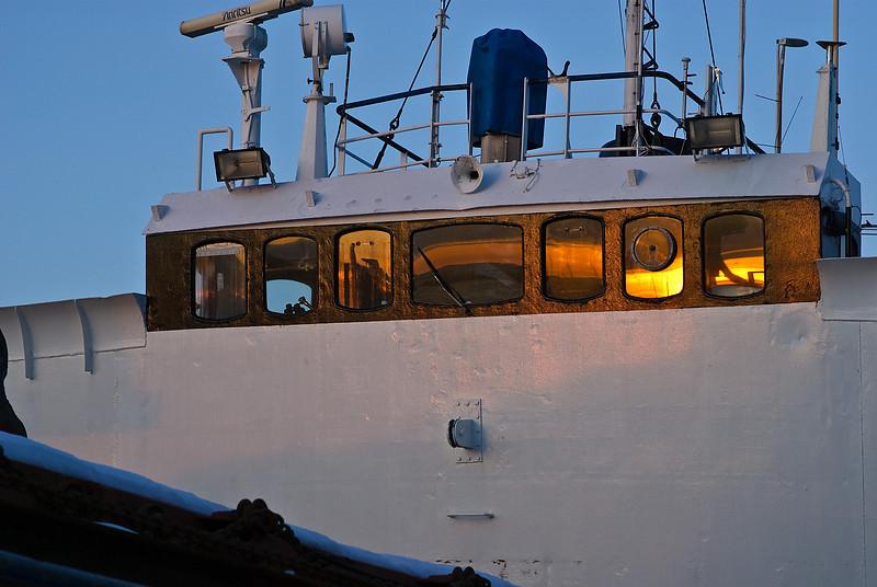 Face of a bulk vessel