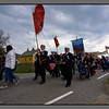 Parade the 17. of may<br />  -a windy national day celebrated at Værøy