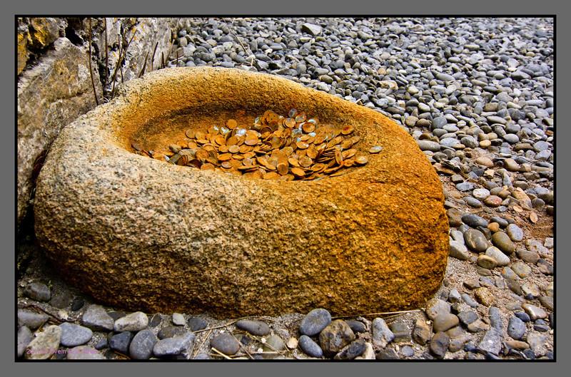 Bowl of hope<br /> Detail, chapel of st. Enda