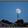 Moon on a pole<br /> Power line to Nyksund