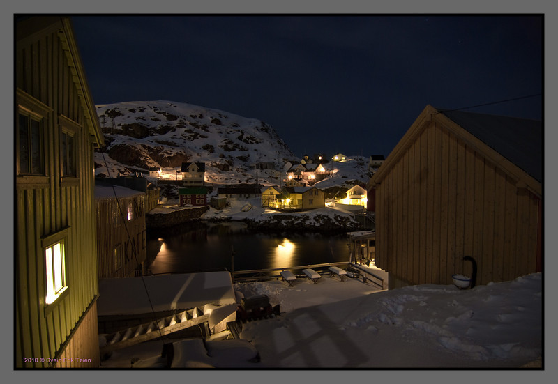 Winter night in Nyksund