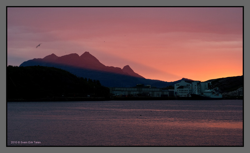 Midnight sun beaming in <br /> Bodø