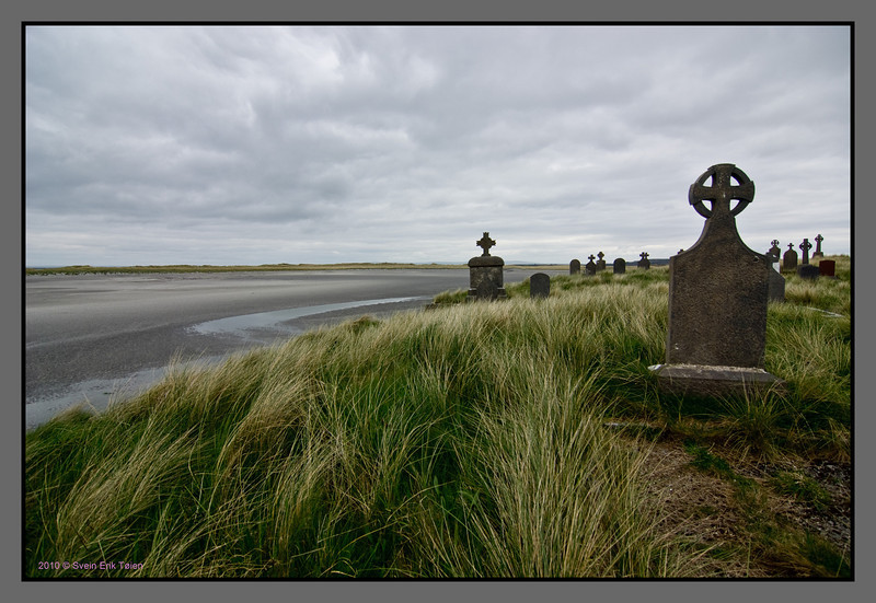 On the edge<br /> Cemetery by Killeany
