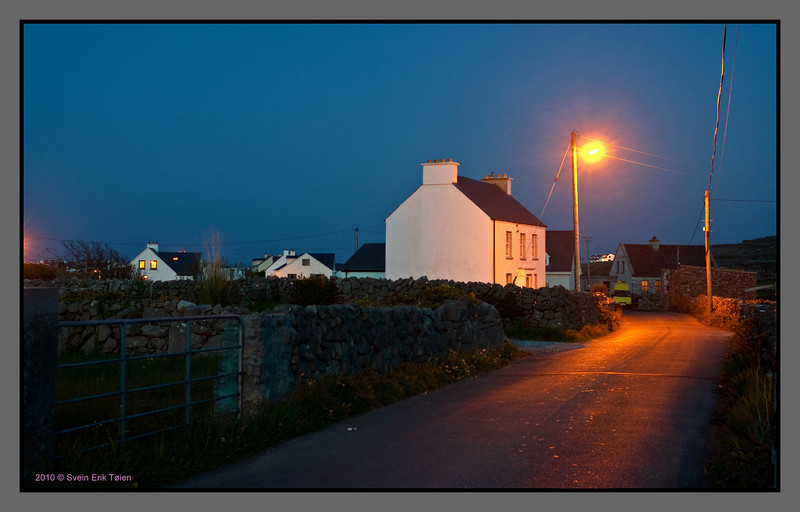 Night falling in the street<br /> Kilronan