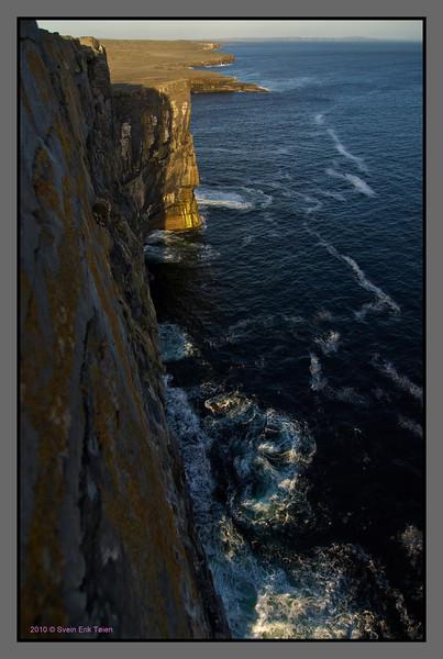 The Atlantic brakes in<br /> Cliffs at Dun Aonghasa
