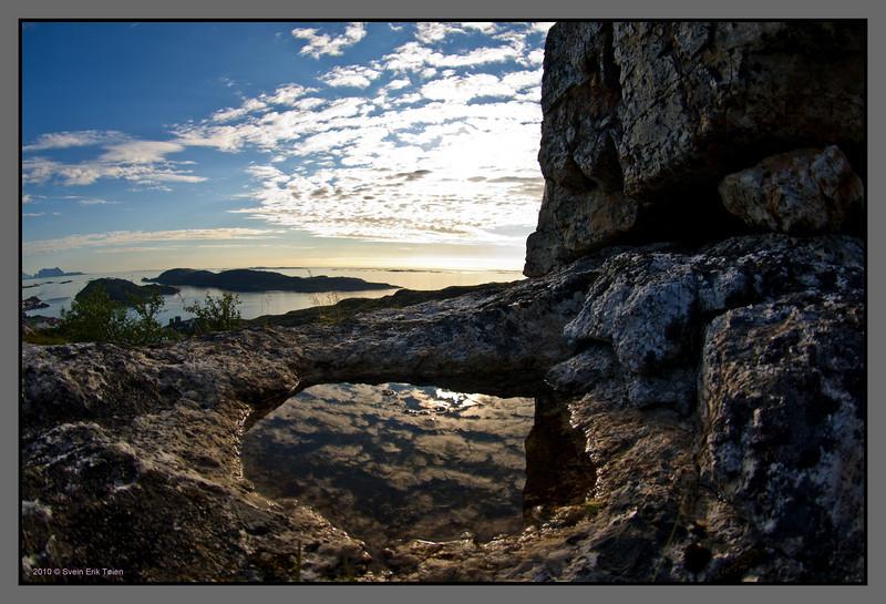 Pond reflection<br /> Pallfjellet, Bodø