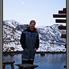 Michal outside the Tank - a still afternoon in Nyksund