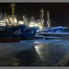 Frozen sea, frozen ships<br /> Russian fishing vessels in Kirkenes harbour, -25 C