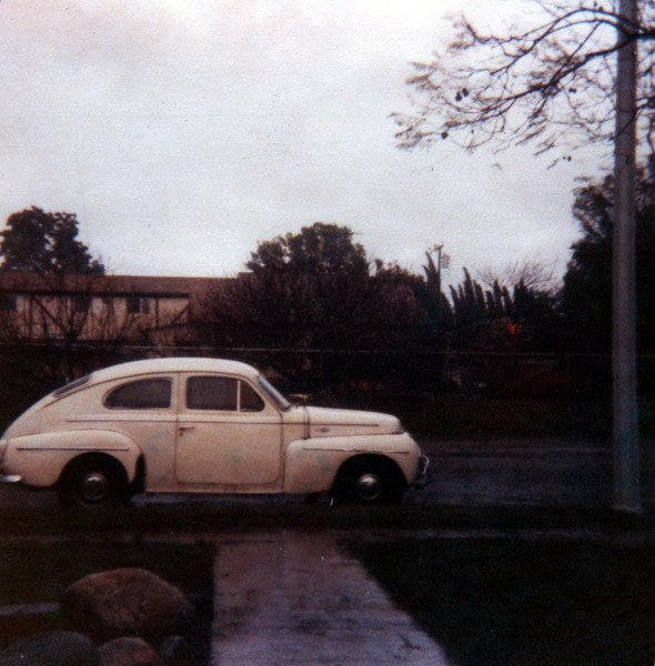 1961 Volvo PV-544 parked in front of our house on Burnham St in Buena Park, 1977