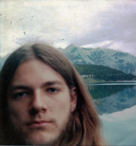Self Portrait (Gary Edberg) at Two Jack Lake near Banff, Alberta, Canada - 1975