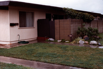 Our apartment on Burnham St, Buena Park, CA, 1982
