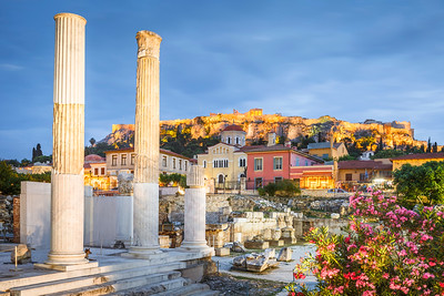 Hadrian's Library and Acropolis.