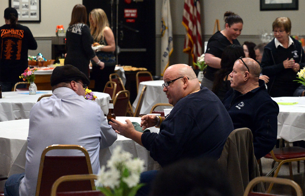 . Supporters of the Norristown Police K-9 Unit come together for a fundraiser at Maenner Chor Club May 13, 2017.  (Bob Raines/Digital First Media)