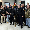 Norristown police officers join K-9 officer Bryan Nawoschik and his partner, Jerry, at a fundraiser at Maenner Chor Club May 13, 2017.  (Bob Raines/Digital First Media)