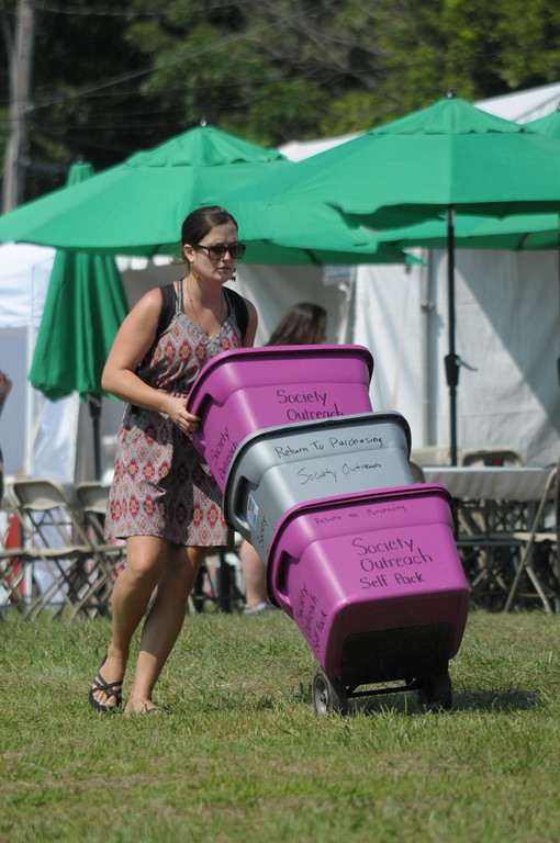 . Campers and vendors set up for the 56th annual Philadelphia Folk Festival in Upper Salford August 17, 2017. Gene Walsh � Digital First Media