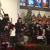 The Cameron Highland Pipe Band performs at the Boar's Head and Yule Log Festival at St. Peter's Lutheran Church, Saturday, Jan. 6, 2018. (Joe Barron ― Digital First Media)