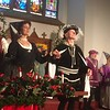 The cast performs a stately dance at the Boar's Head and Yule Log Festival at St. Peter's Lutheran Church, Whitemarsh, Saturday, Jan. 6, 2018. (Joe Barron ― Digital First Media)