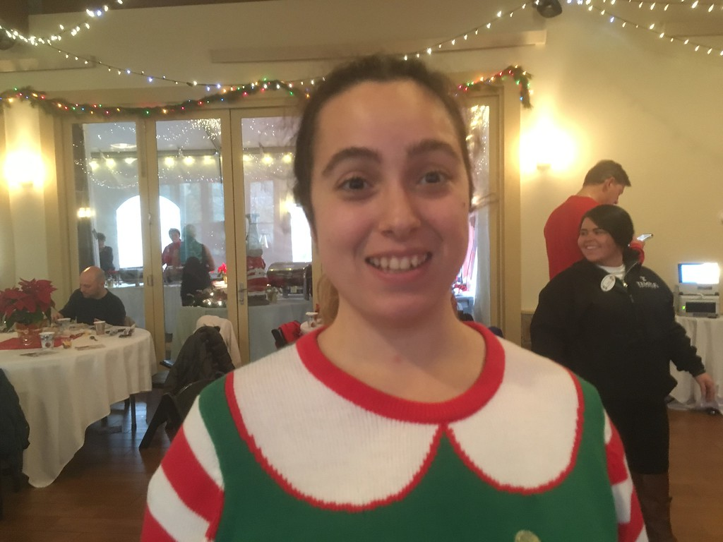 . Kimberly Alan is one of Santa\'s helpers at Brunch With Santa at Elmwood Park Zoo, Norristown, Saturday, Dec. 23, 2017. (Joe Barron � Digital First Media)