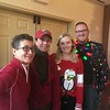 Working the bar at Brunch With Santa at the Elmwood Park Zoo, Norristown, are, from left, Micky Delliponti, Lisa Van Fossen and Kaitlyn McCollum, with Eric Donovan, the zoo's director of operations, Saturday, Dec. 23, 2017. (Joe Barron ― Digital First Media)