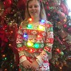 Alexis Canuso, 10, of Blue Bell is lit up like a Christmas tree during  Brunch with Santa at Elmwood Park Zoo, Norristown, Saturday, Dec. 23, 2017.  (Joe Barron ― Digital First Media)