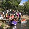 Competitors take to the water at the Cardboard and Duck Tape Boat Race at Riverfront Park, Norristown, Sept. 30, 2017. Joe Barron - Digital First Media