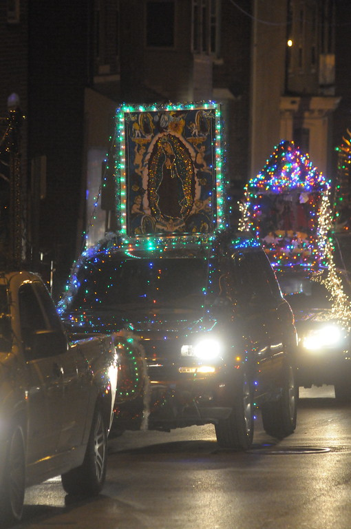 . Celebration of Lady of Guadalupe with procession of decorated vehicle to St. Patrick�s Church in Norristown December 12, 2017. Gene Walsh � Digital First Media