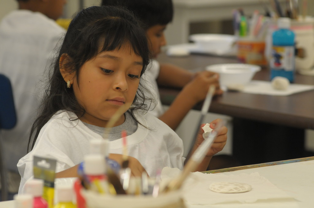 . Children from ACLAMO attend art camp at Montgomery County Community College July 19, 2017. Gene Walsh � Digital First Media