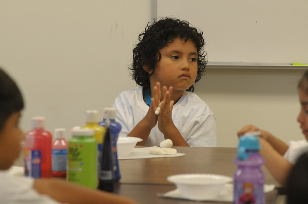 Children from ACLAMO attend art camp at Montgomery County Community College