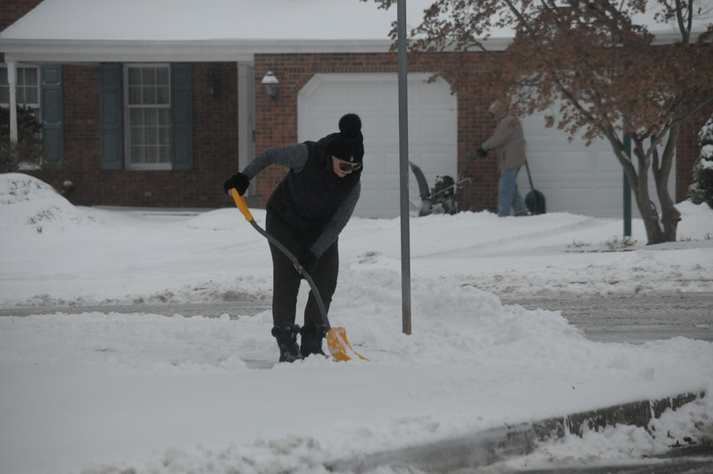County residents dig out from snow storm January 4, 2018. Gene Walsh — Digital First Media