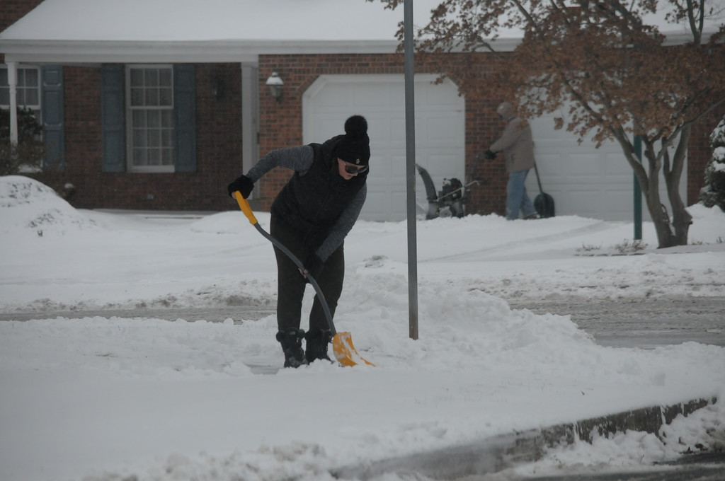 . County residents dig out from snow storm January 4, 2018. Gene Walsh � Digital First Media