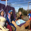 Students from Penn Christian Academy take part in a living Nativity Saturday during the East Norriton holiday parade Saturday, Dec.<br />  2, 2017. (Joe Barron/Digital First Media)