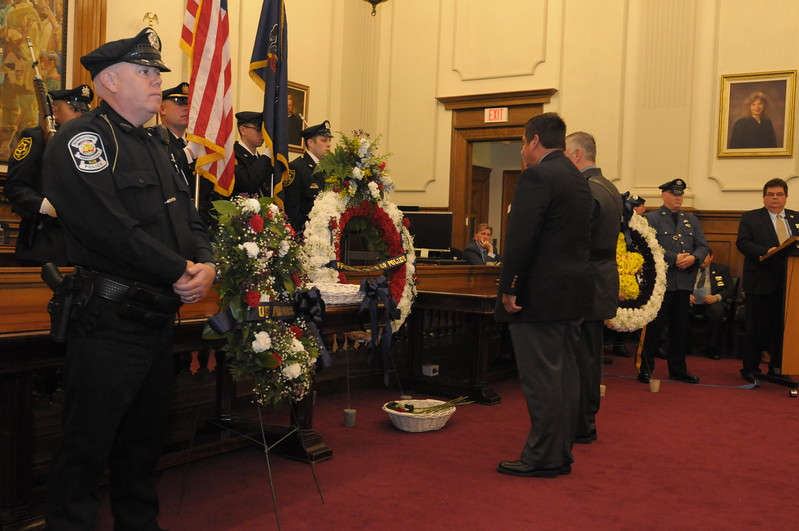 Fallen law enforcement officers honored during annual Montgomery County Police Memorial at the Courthouse in Norristown May 5, 2017. Gene Walsh — Digital First Media