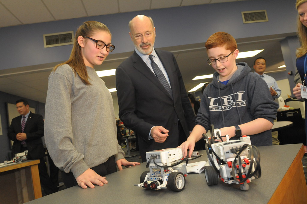 . Governor Wolf visits Colonial Middle School to speak on standardized PSSA testing reduction December 6, 2017. Gene Walsh � Digital First Media