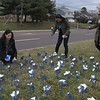 Mission Kids Advocacy Center honors child abuse victims with the planting of Pin Wheel Garden March 30 , 2017. Gene Walsh — Digital First Media