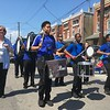 Drummers from Norristown Area high School, known collectively as Town Storm, march up Stanbridge Street in the Fourth of July parade Tuesday, July 4, 2017. Joe Barron -- Digital First Media