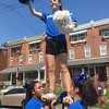 Norristown Area High School cheerleaders impress spectators on Stanbridge Street during the Fourth of July Parade Tuesday, July 4, 2017. Joe Barron -- Digital First Media