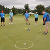 Photo courtesy of SOPA<br /> Gerard Hasson sinks a putt as members of the Montgomery County golf team compete at the Summer Games at Penn State