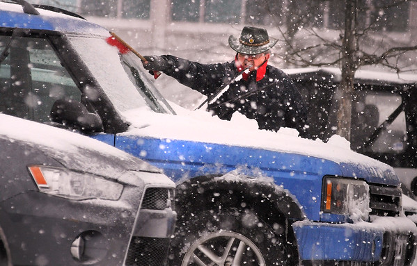Snow blankets Montgomery County with snow and sleet