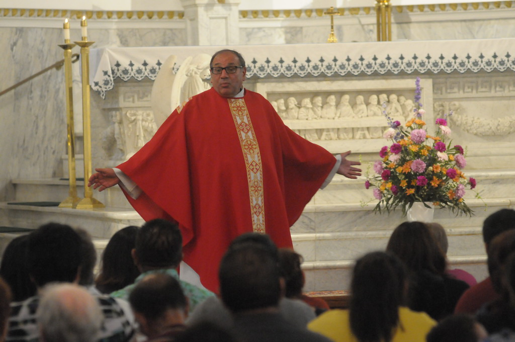 . Special Mass held at St. Patrick�s Church in Norristown to pray for victims of the earthquakes in Mexico and the hurricanes in the Caribbean September 21, 2017. Gene Walsh � Digital First Media