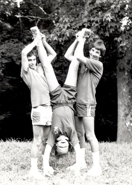 Summer 1984 CITs (Counselors in Training) Rob Hawk, David Bradshaw, and Gena Duff