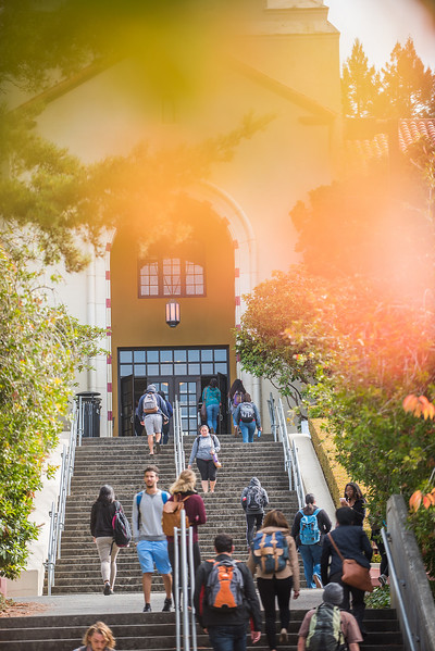 T-S Tip 9: Everyday is a leg day when you're an HSU student. For real, you probably won't get use to the amount of stairs you will walk down only to find that you have to walk up. But having a class in Founders Hall is a good chance to skip the gym and proceed with T-S Tip 5. Photo provided by HSU