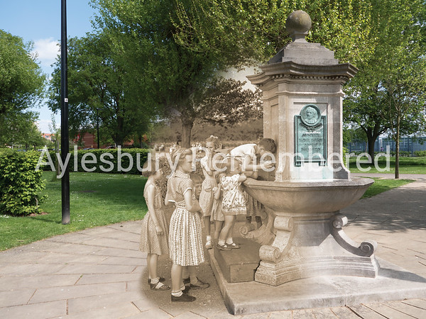 Drinking Fountain in Vale Park, 1954 and 2016