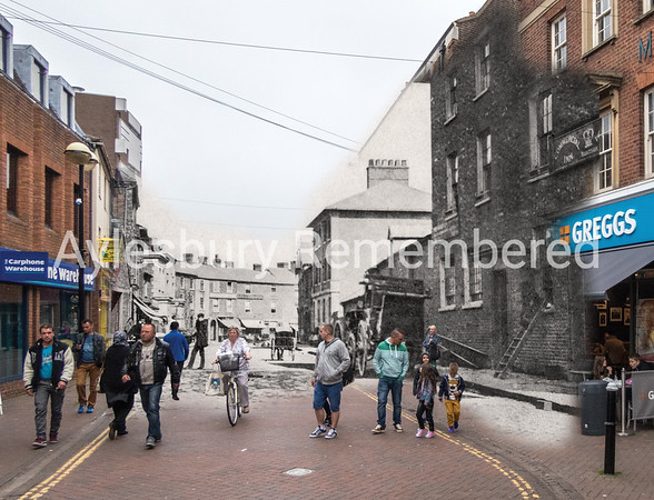High Street, 1855 and 2015