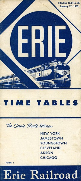 The Erie's strapline  'The Scenic Route' was well deserved, it did follow a scenery filled, winding  route from New York to Chicago, almost 100 miles longer than the Pennsylvania RR. But that didn't really matter as few made the end to end journey over the Erie.