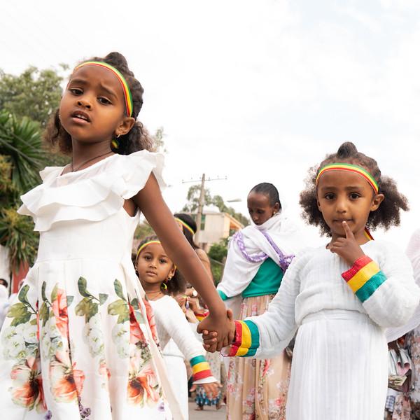 ETHIOPIA, GONDAR, TIMKAT, FRIDAY