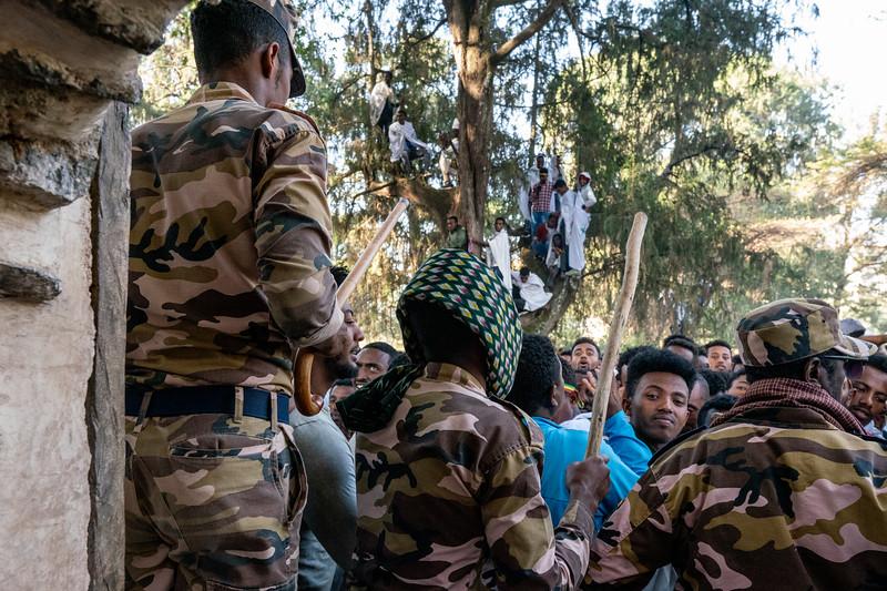 ETHIOPIA, GONDAR, TIMKAT, SATURDAY